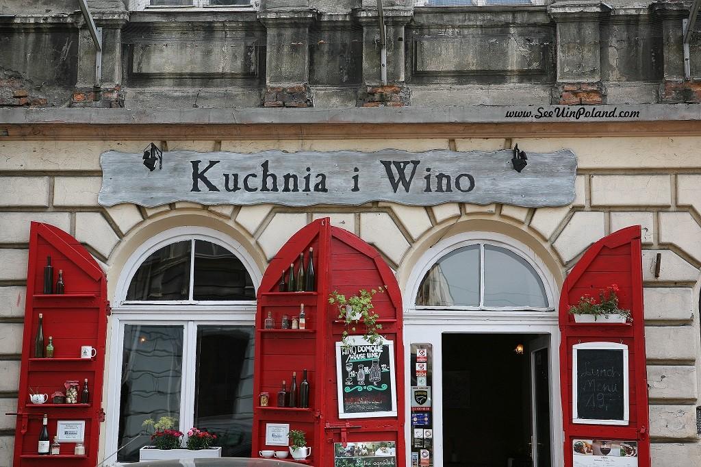 witryny kraków kuchnia i wino