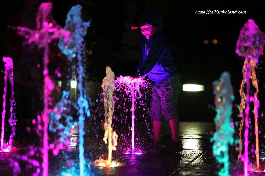 Zamość plac wodny fontanna