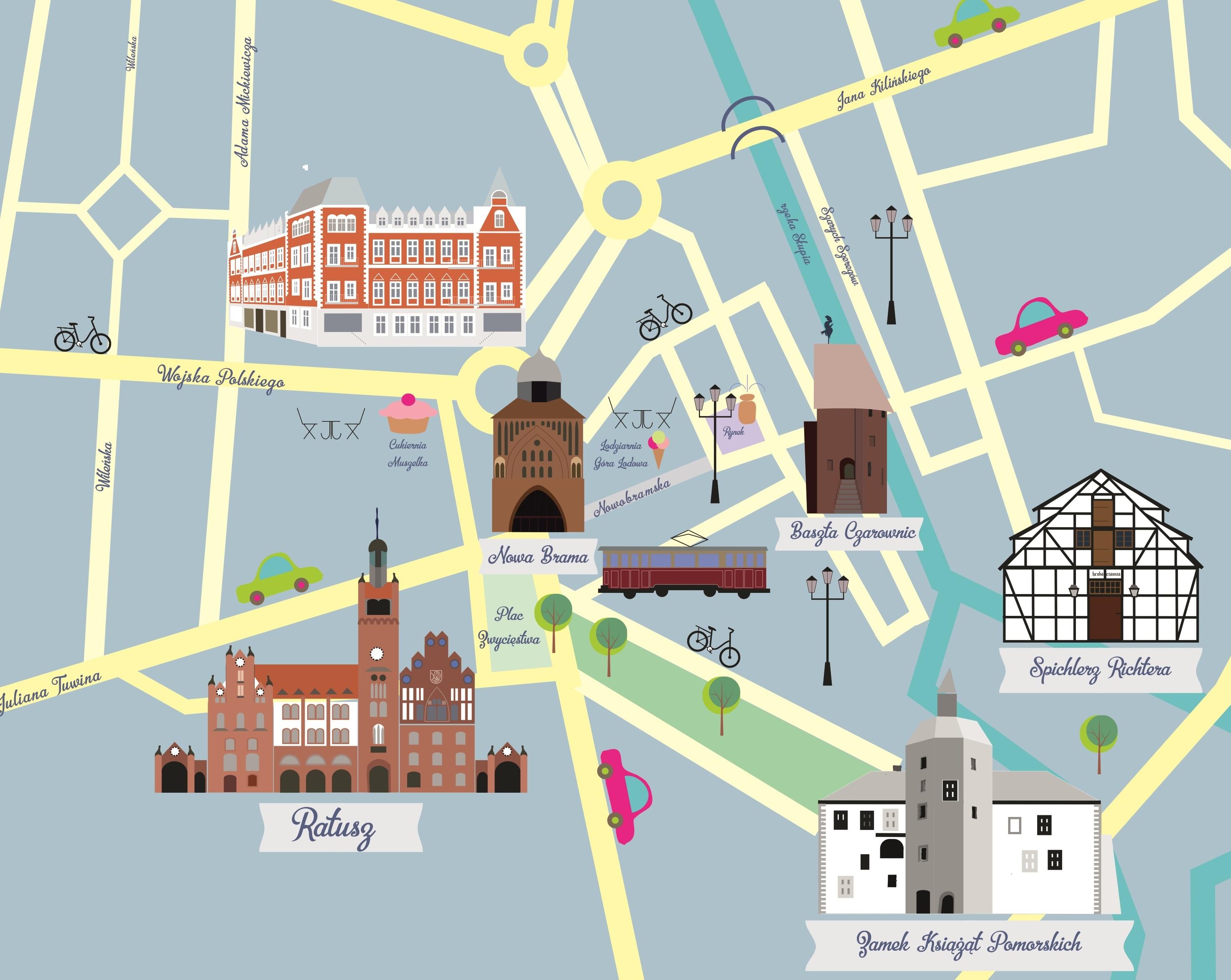 Slupsk Moja Pierwsza Ilustrowana Mapa See U In Poland