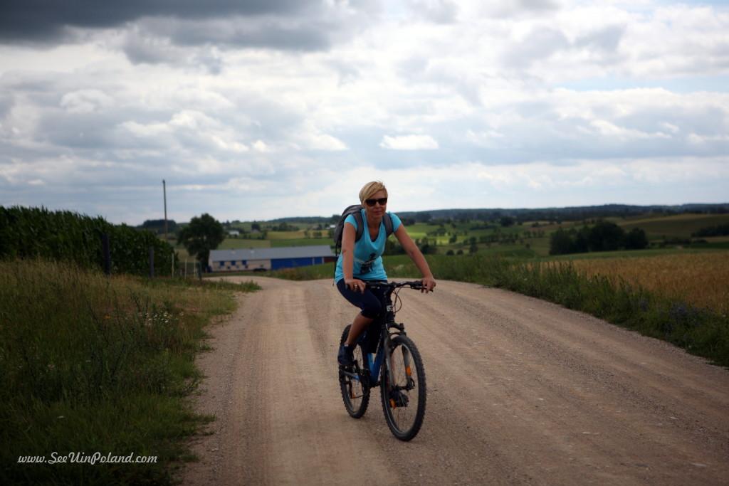 Suwalszczyzna by bicycle Wiżajny